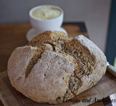 Irish Brown Bread - prep 15 to 30 min, bake for about 40 minutes