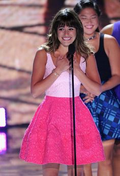 Lea accepting her award at the TCA's. It was a heartbreaking speech