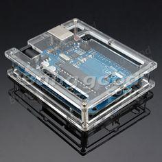 5Pcs Transparent Acrylic Shell Box For Arduino UNO R3 Module Board