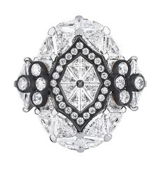 """DIOR """"Galerie des Glaces"""" ring in white and pink gold, scorched silver and…"""