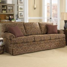 Have to have it. Charles Schneider Altus Brick Fabric Sofa with Accent Pillows $1199.99