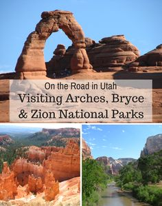 Take a road trip in Utah and visit Arches, Bryce & Zion National Parks. The scenery is breathtaking!