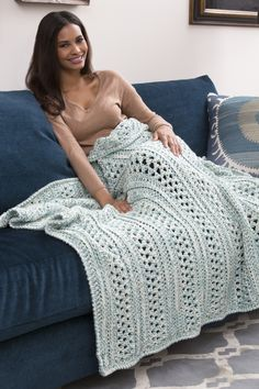 Double Woven Throw (LW3948) Free Crochet Pattern... - Red Heart Yarns
