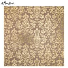 Get Brown & Gold Foil Damask Scrapbook Paper - 12 x 12 online or find other Printed Paper Single Sheets products from HobbyLobby.com