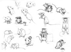 Pin van conny op sweet little mice - рисунок животных, рисун Art And Illustration, Illustrations, Animal Sketches, Animal Drawings, Art Drawings, Character Design References, Character Art, Hamsters, Rodents
