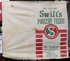 Vintage Feed Sack Swifts Poultry Fabric Cloth Cutter for Totes Pillows Red Green  Make feed sack curtains, totes, bags, aprons. There are tons of cool pins featuring diy projects.