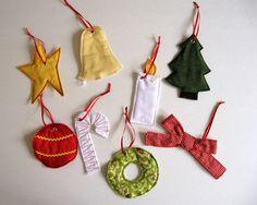Symbols of Christmas Ornaments Sewing PDF Pattern and Printable. $8.50, via Etsy.