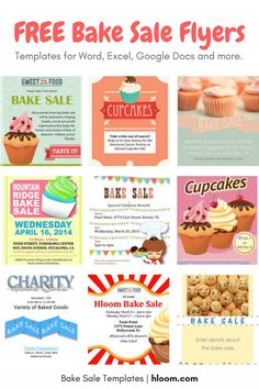 Cupcake Bake Sale Flyer Templates CakepinsCom  Bake Sale