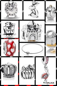>>>Pandora Jewelry OFF! >>>Visit>> Alice in wonderland pandora style PANDORA Jewelry xelx.site/ More than off! Pandora Charms Disney, Pandora Bracelet Charms, Pandora Rings, Pandora Jewelry, Charm Jewelry, Jewelry Art, Antique Jewelry, Jewellery, Alice In Wonderland Garden