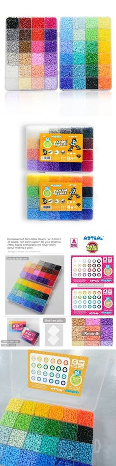 Bead Kits 134567: Artkal Mini Hard Beads C 2.6Mm 34,000 Fuse Beads 48 Colors Assorted In 2 Boxes -> BUY IT NOW ONLY: $73.89 on eBay!