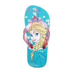 tongs enfants princesse de Disney Le royaume gele en bleu et rose Spartoo