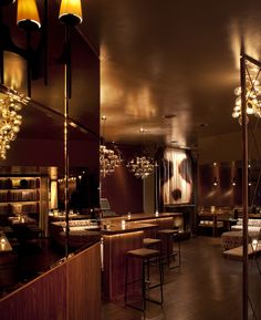"""Be Amazing"" ~ Chambers Eat and Drink, San Francisco, via @We Heart #interiordesign #glamour"