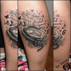Lost time clock; tattoo by Blaze  www.facebook.com/zentattoozagreb