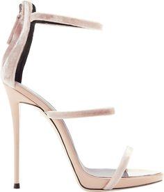 Giuseppe Zanotti Coline Velvet Strappy Sandals
