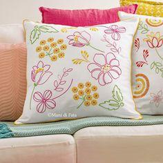 Cuscino, cotone disegnato