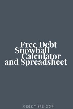 Free Debt Snowball Calculator www.ReplaceYour8to5.com - TIPS AND TOOLS TO BECOME DEBT FREE ONCE AND FOR ALL