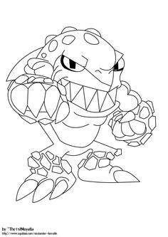 Skylanders Giants Coloring Pages | Free Printable Terrafin Coloring Pages