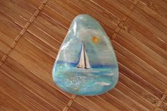 Sailing+Rock+Hand+Painted+by+MJBousquet+on+Etsy