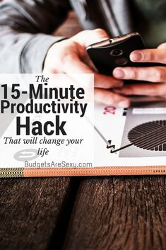 I call this the 15 Minute Trick, and it's super easy to do. Every time I don't want to do something I know I REALLY need to get done, I tell myself that I'll just sit down for 15 minutes. Best Money Saving Tips, Ways To Save Money, Saving Money, How To Make Money, How To Get, Money Tips, Productivity Hacks, Beautiful Lines, Getting Things Done