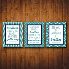 brother quotes for the boys' room @RV Parties on Etsy
