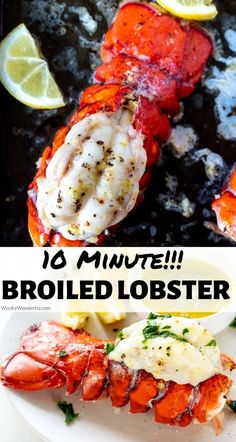Make this Easy Broiled Lobster Tail Recipe any time you want an indulgent dinner. Cooking lobster this way takes just 10 minutes and is perfect for date night, holidays or Valentine's Day Dinner. #lobsterrecipes #broiledlobster #dinnerrecipes #valentinesdayrecipes #lobster Best Seafood Recipes, Healthiest Seafood, Lobster Recipes, Pasta Recipes, How To Cook Lobster, How To Cook Fish, Jambalaya Recipe, Food 101, Lobster Tails