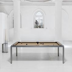 The Slimline Pool Table, we believe to be the slimmest Pool Dining Table you can find on the market. This table can be used as a stand alone Pool Table or as a Pool Dining Table due to its incredibly slim frame design. Pool Table Dining Table, Pool Tables, Ral Colours, Luxury Pools, Table Sizes, Table Dimensions, Wood Colors, Game Room, Furniture