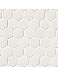"2"" Hexagon White Glossy Porcelain Mosaic Tile"