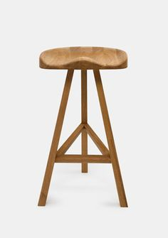 Heidi Stool - Natural Oak - High by Established and Sons Water Mill, Beer Garden, Stools, Natural, Kitchen, Furniture, Design, Home Decor, Benches