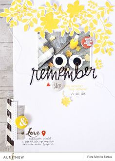 "8.5""x11"" scrapbook layout with Altenew Floral Shades stamp set 