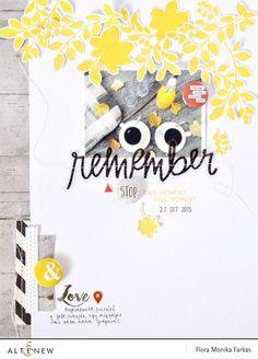 "8.5""x11"" scrapbook layout with Altenew Floral Shades stamp set | by Flóra Mónika Farkas #altenew #stamping"
