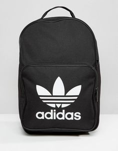 Buy adidas Originals trefoil logo black backpack at ASOS. Get the latest trends with ASOS now. Addidas Backpack, Backpack Purse, Black Backpack, Leather Backpack, Fashion Backpack, Laptop Backpack, Rucksack Backpack, Mochila Nike, Adidas Originals