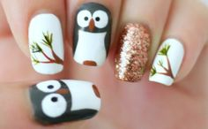 How to make cool owl nail art manicure step by step DIY tutorial instructions | How To Instructions