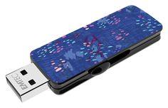 "Fashion Prints USB flash drive ""Blue Snow"" 3/4 top open #EMTEC #FlashDrive #mlleeuge"