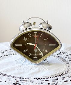 Vintage alarm clock Retro desk clock Working by VintageCorner42