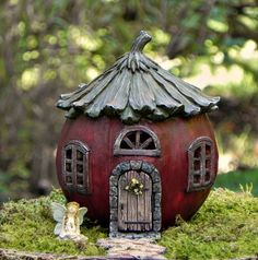 Fairy House Cottage, Pathway Path, Buck Nut, hinged door, miniature fairy garden accessories, accessory for mini garden, miniatures supply by TheLittleHedgerow on Etsy https://www.etsy.com/listing/566273539/fairy-house-cottage-pathway-path-buck #miniaturefairygardens