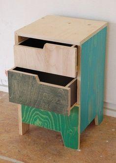 Image result for stacking furniture plywood bedside table
