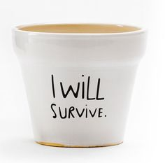 I Will Survive Plant Pot - haha, my Mom  needs some of these @Cheryl Richter Guibord