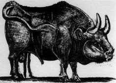 'the bull' by pablo picasso Pablo Picasso, Spanish Painters, Spanish Artists, Picasso Prints, Cubist Movement, Art Images, Moose Art, Illustration Art, Fine Art