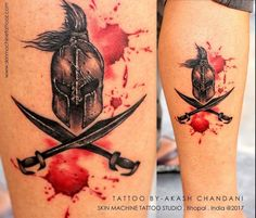 Spartan warriors―the deadliest warriors ever!  Tattoo done by Akash Chandani  Sparta is known for its brilliant system of laws made by the great philosopher Lycurgus.Warrior tattoos are pretty popular and convey one's approach towards life. The tattoos depict one who possesses an invincible spirit, shows remarkable courage, and is always ready to lay down his life during a war.   Email for appointments - skinmachineteam@gmail.com  www.skinmachinetattooz.com  #details #sparta #spartatattoo…