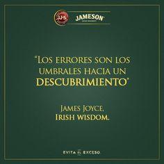 """""""Los #Errores son los umbrales hacia un descubrimiento"""". #JamesJoyce #Citas #Frases @candidman"""