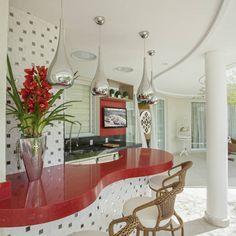 Construindo Minha Casa Clean #bancada #colorido #luminária