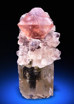 "bijoux-et-mineraux: "" Fluorite on Quartz - Winterstock, Göschenertal, Switzerland "" Minerals And Gemstones, Rocks And Minerals, Natural Gemstones, Beautiful Rocks, Mineral Stone, Rocks And Gems, Stones And Crystals, Gem Stones, Earth"