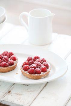 raspberry tartlets.. Valentine's day