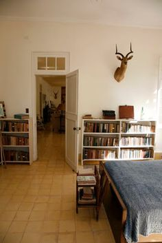 Ernest Hemingway's book-lined home in Cuba