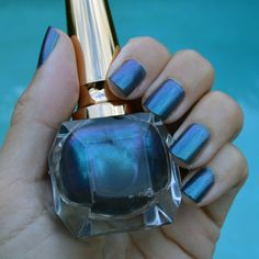 cebb1a7ae362 Christian Louboutin Scarabee Voilet Blue nail polish review
