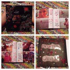 Photo album I made my boyfriend. ❤️ It's a great DIY gift for your boyfriend on your aniversary, his birthday, valentines day, or even christmas! My boyfriend loved it!