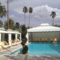 Pool at the Viceroy Hotel in Palm Springs CA