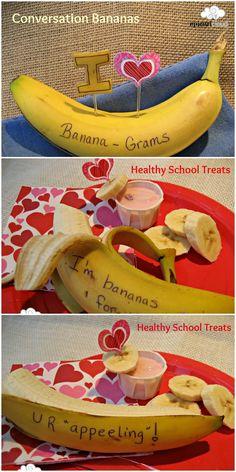 Banana-Grams Healthy Valentine's Day Treats! #valentinetreats