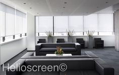 Achieve optimal thermal and visual comfort in your office space with Helioscreen's superior sun control blinds