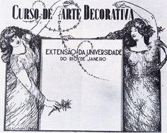 '' Desenho '' (1936) – Cartaz do curso de arte decorativa de Visconti, nanquim e papel.